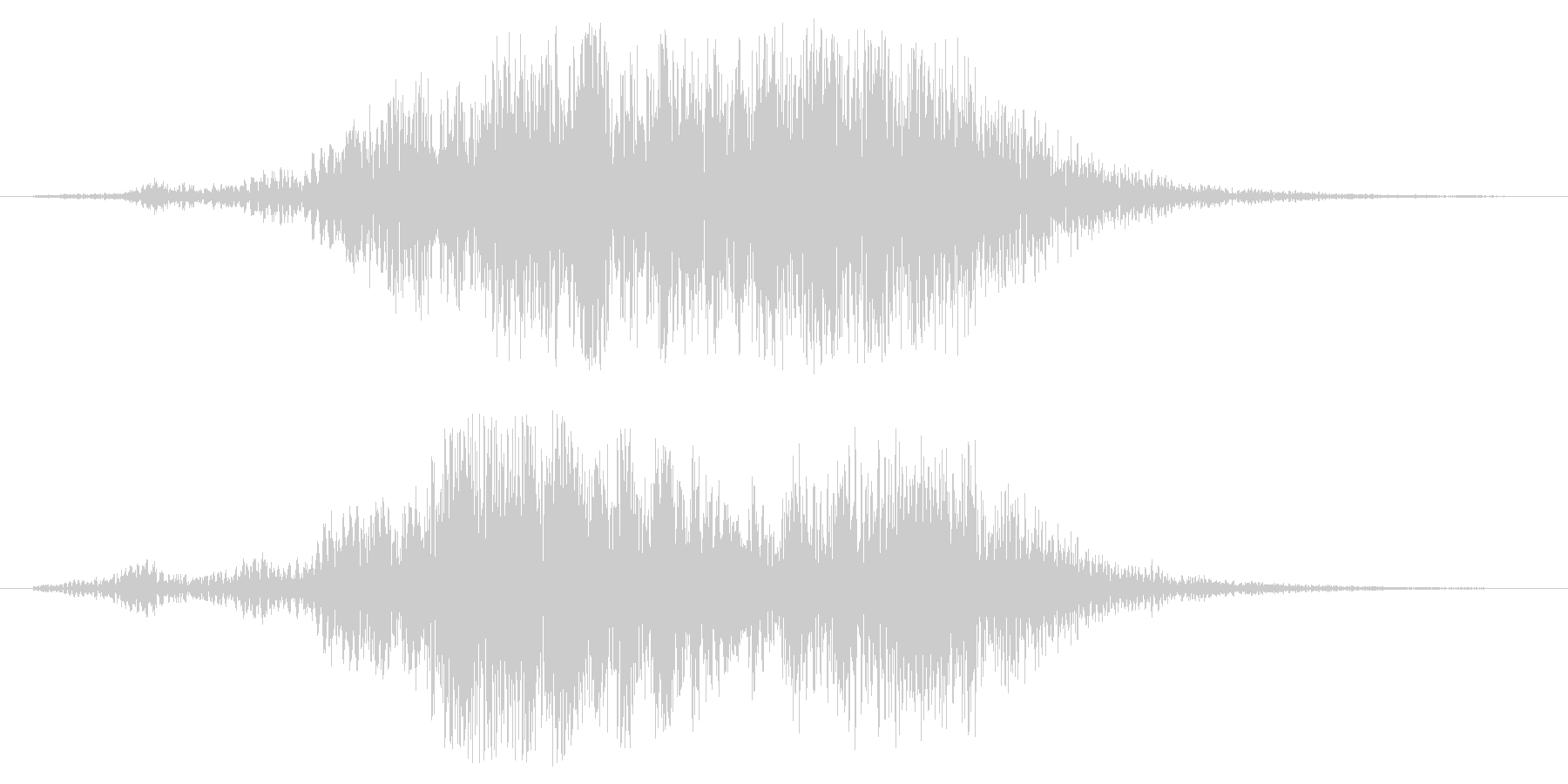 フオーン(風の吹くような効果音)の未再生の波形
