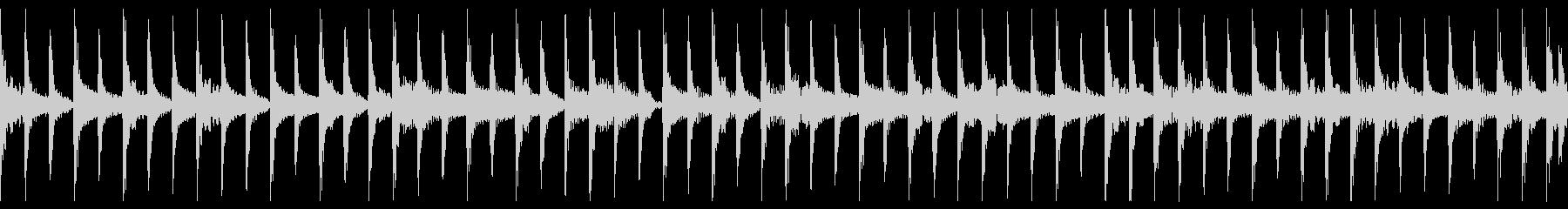 ミュートギターのループの未再生の波形