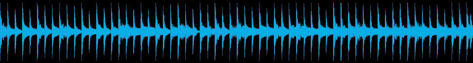 ミュートギターのループの再生済みの波形