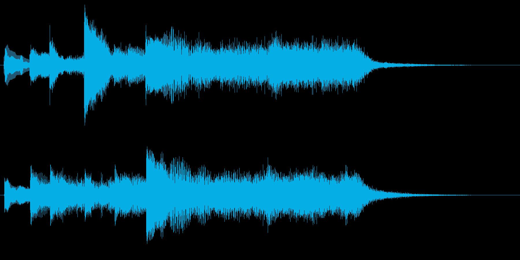 ハープとストリングスのジングル3の再生済みの波形