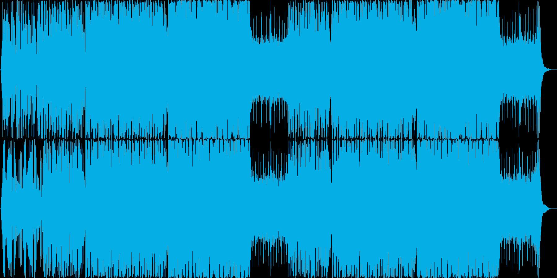 爽やかでどこか哀愁のあるグリッチホップの再生済みの波形
