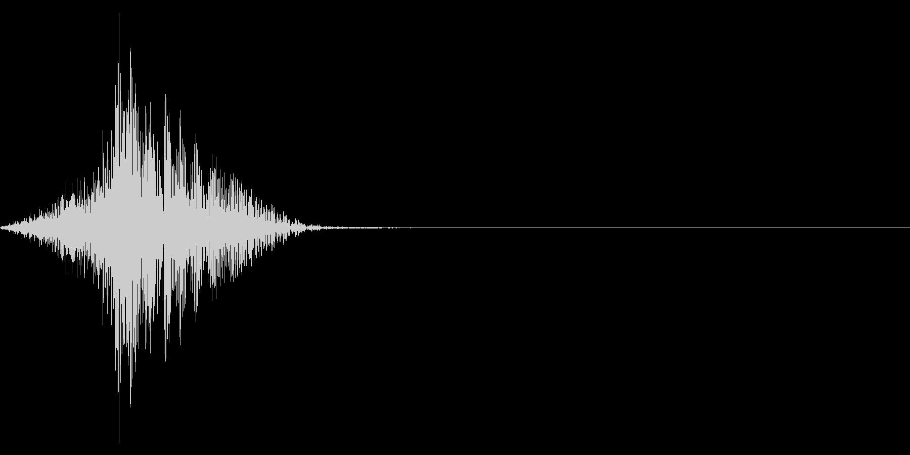 ゲーム掛け声男1セイッ1の未再生の波形