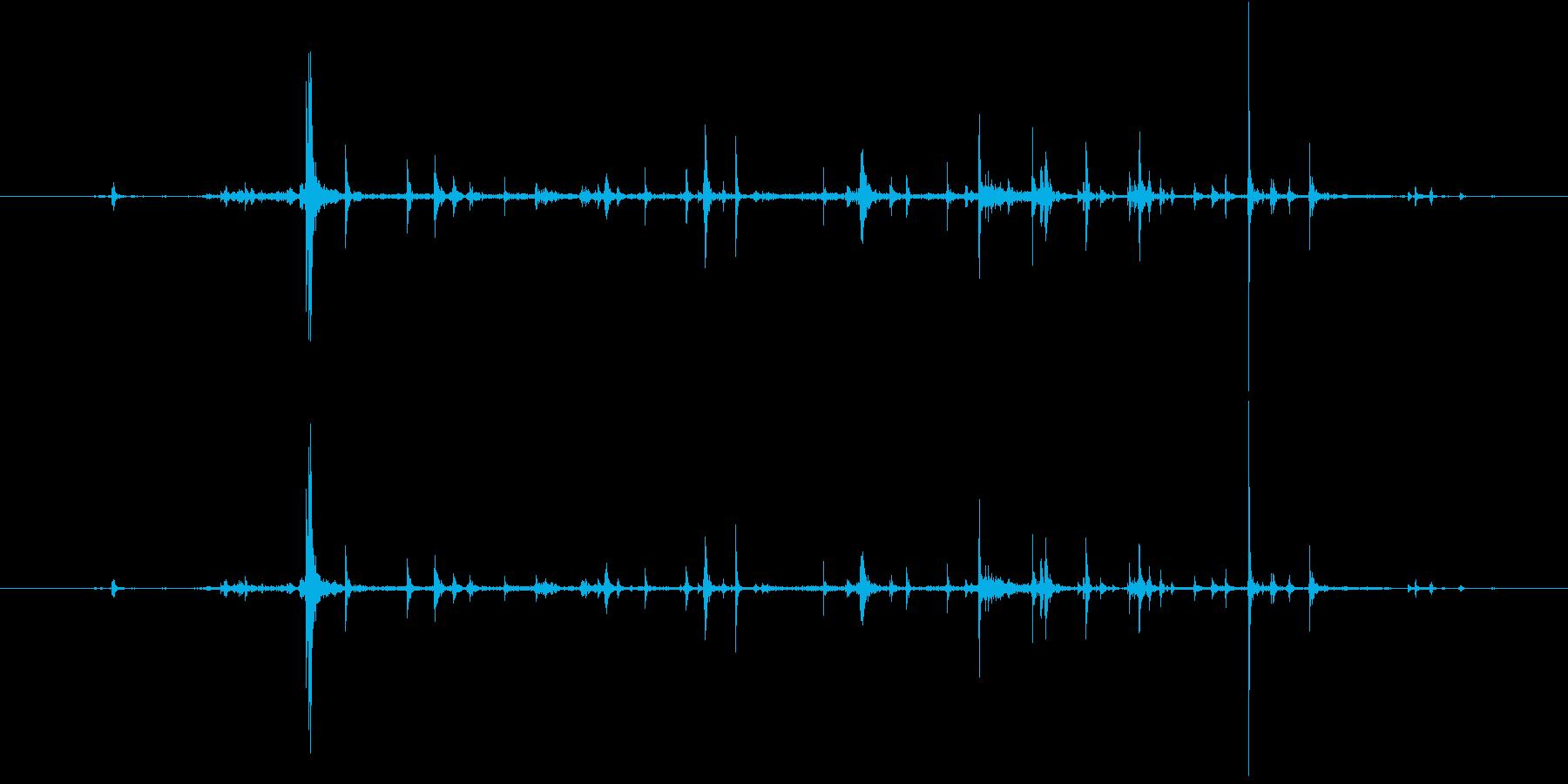 紙 カサコソ1の再生済みの波形