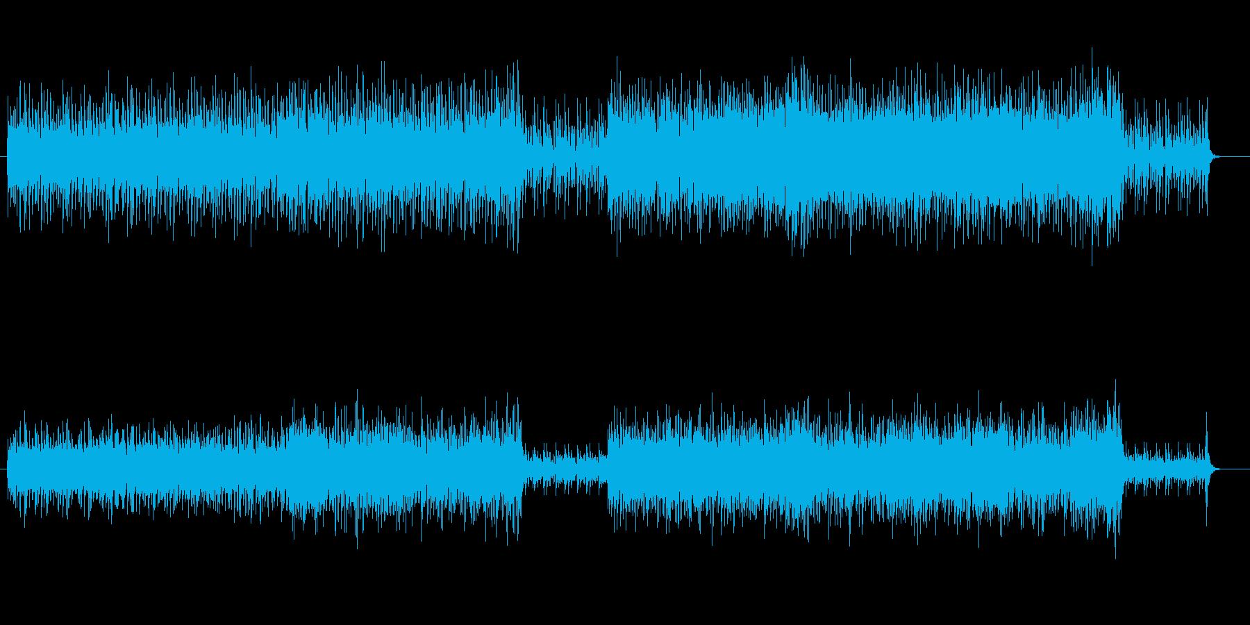 中南米民族音楽風の再生済みの波形