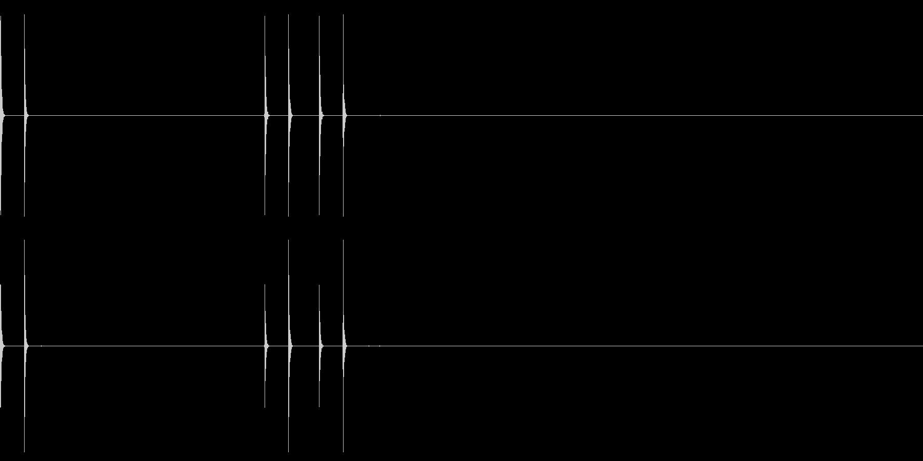 クリック マウス カチッ 選択 パソコンの未再生の波形