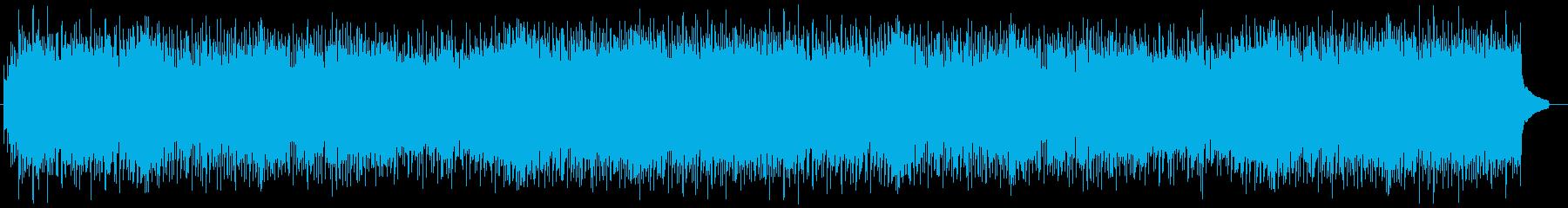 爽やかで激しいグルーブのロックの再生済みの波形