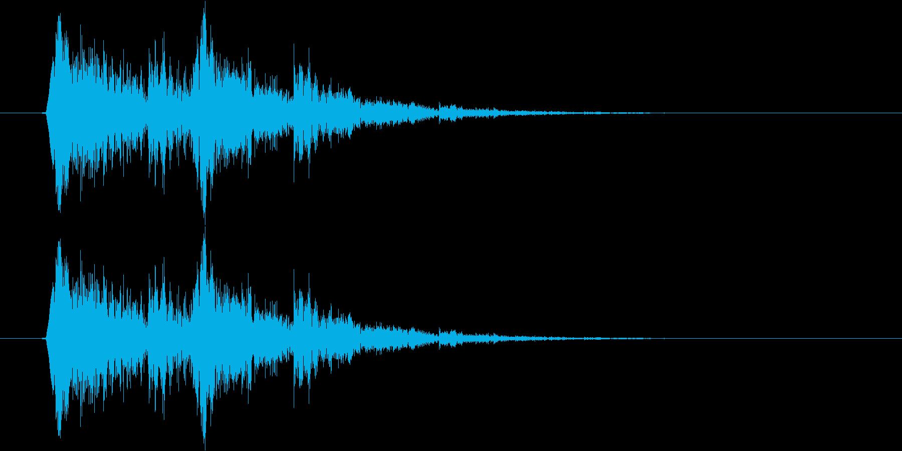 コイン獲得音(シンセ)の再生済みの波形