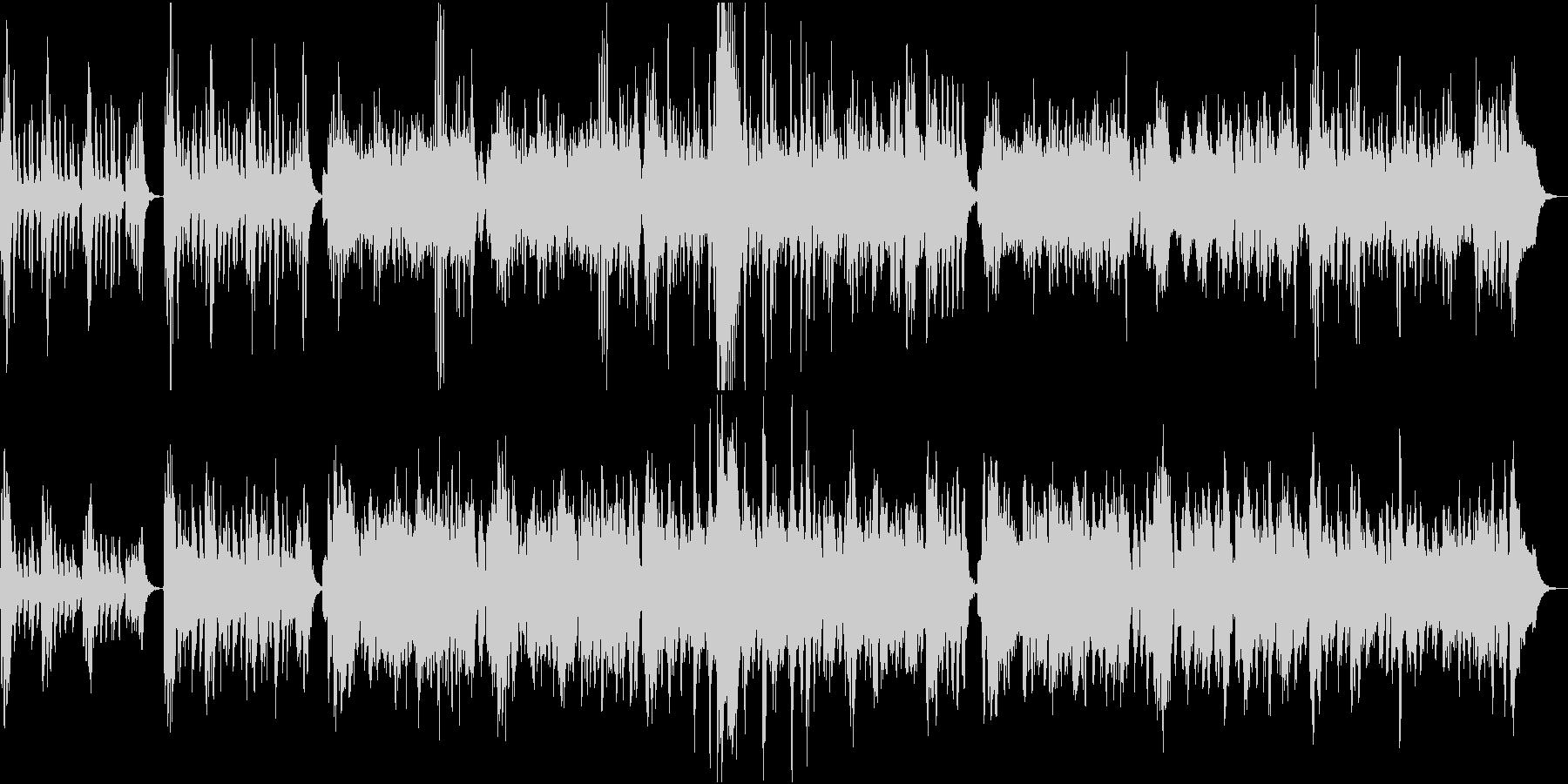 軽快で可愛らしい弦楽五重奏の未再生の波形