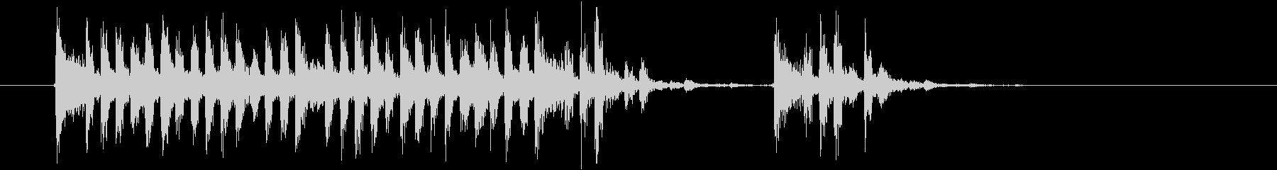 激しくミステリアスな音楽の未再生の波形