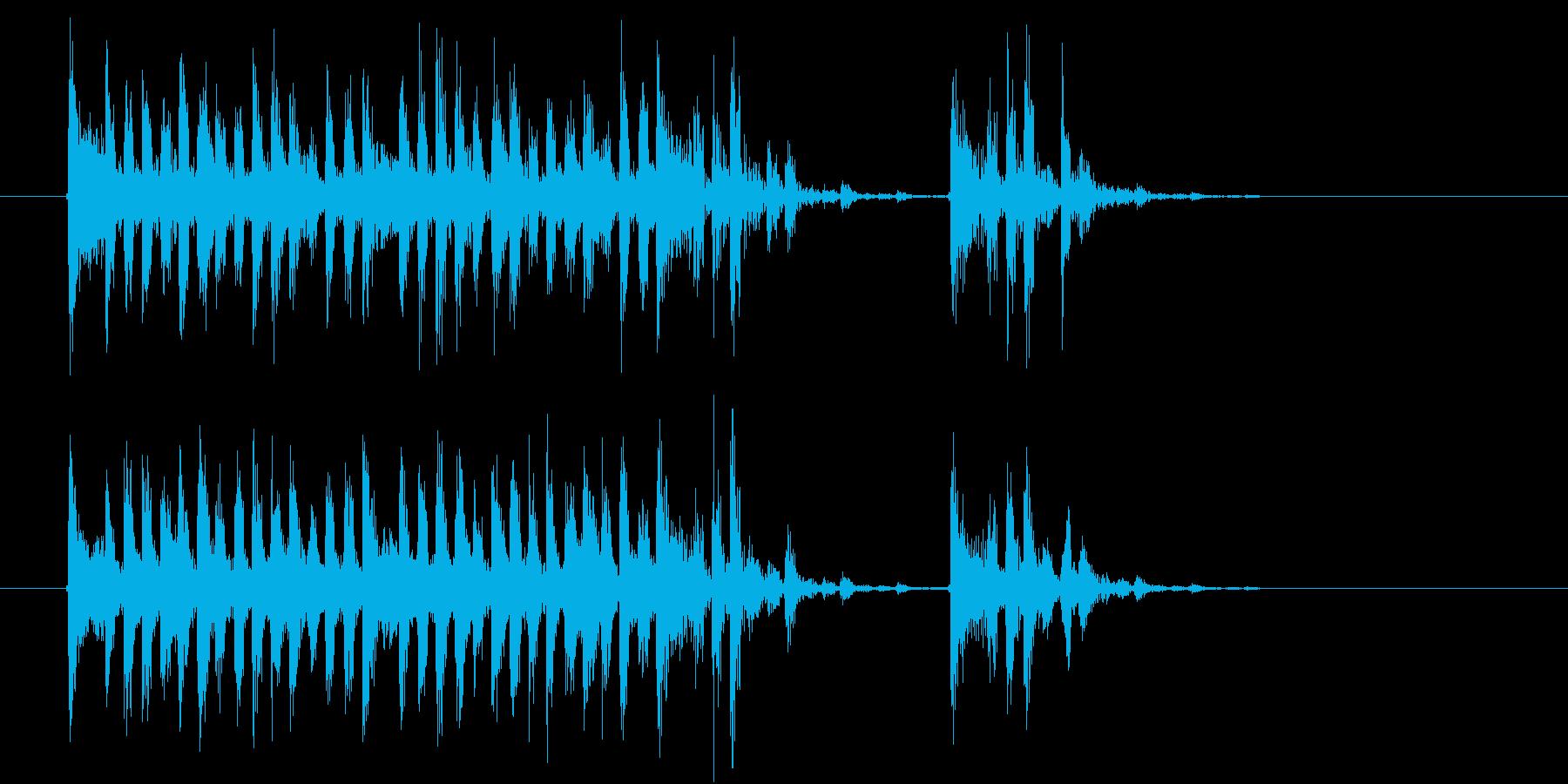 激しくミステリアスな音楽の再生済みの波形
