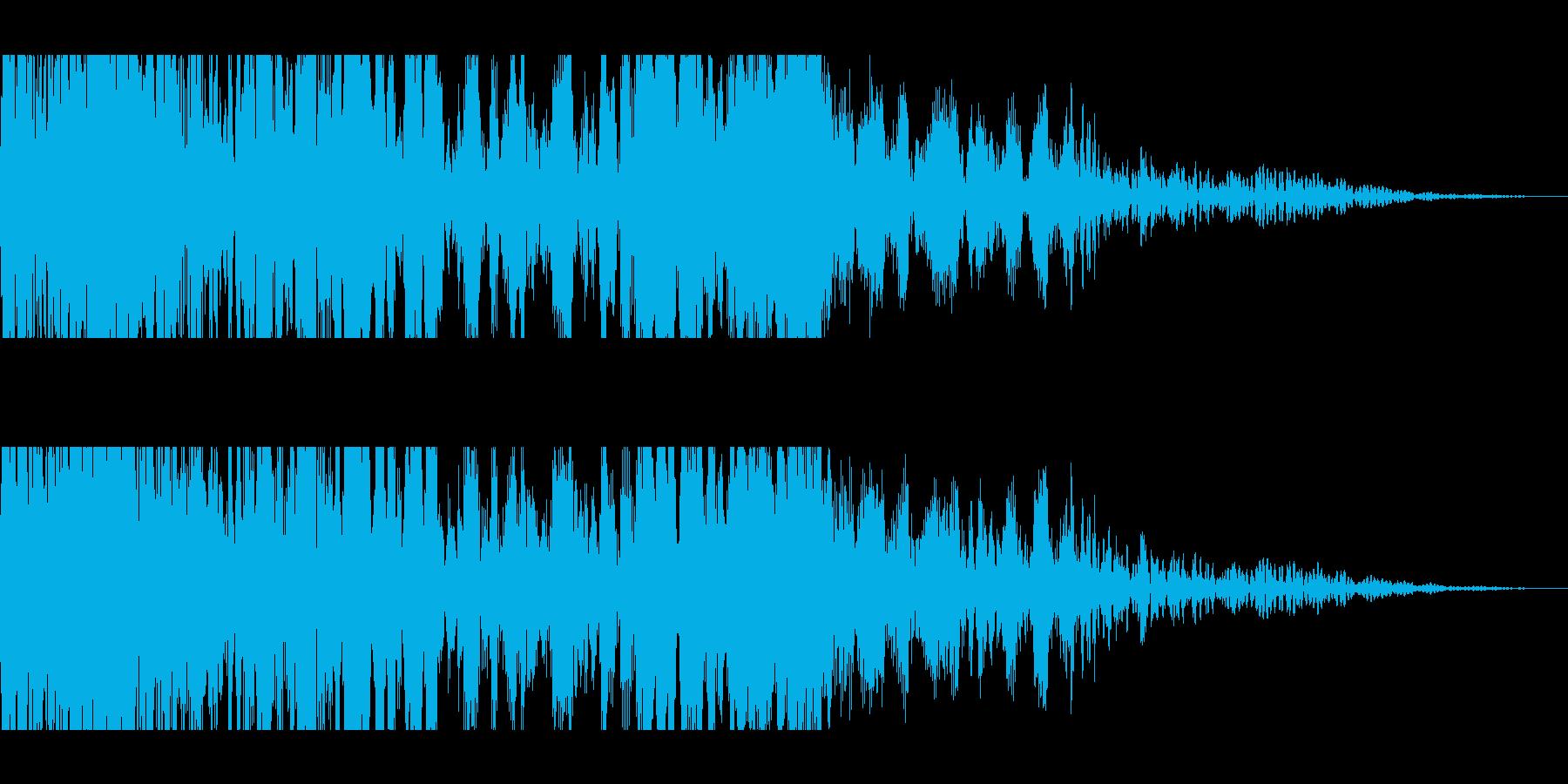 獣モンスターの叫び(長めの遠吠え)の再生済みの波形