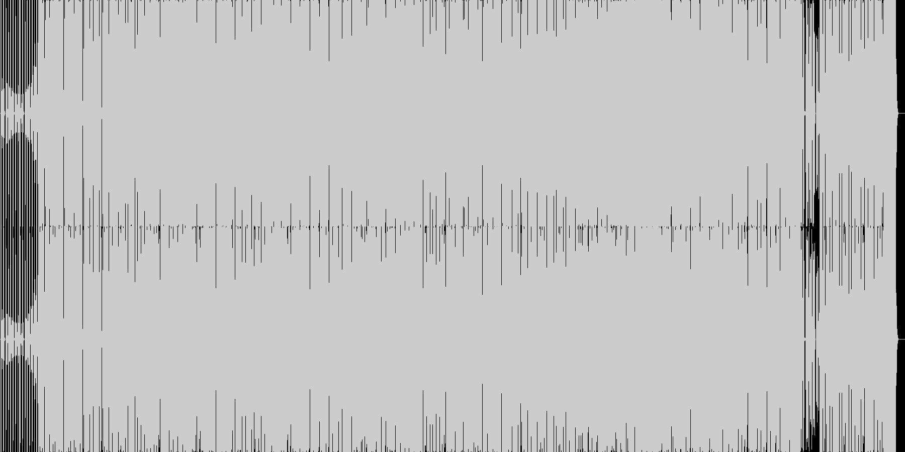 カチッとしたEDM系の曲です。の未再生の波形