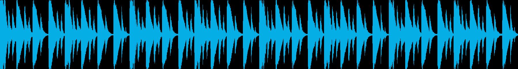 【ループE】浮遊感あるシンセが続くテクノの再生済みの波形