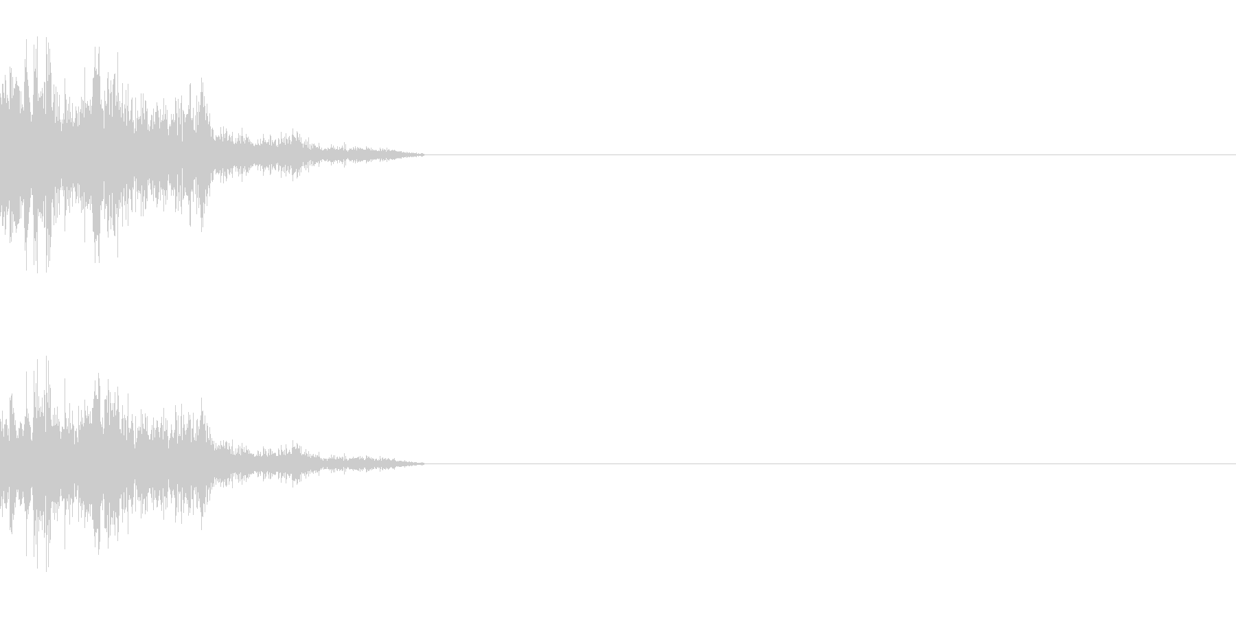 ダメージ音 3の未再生の波形