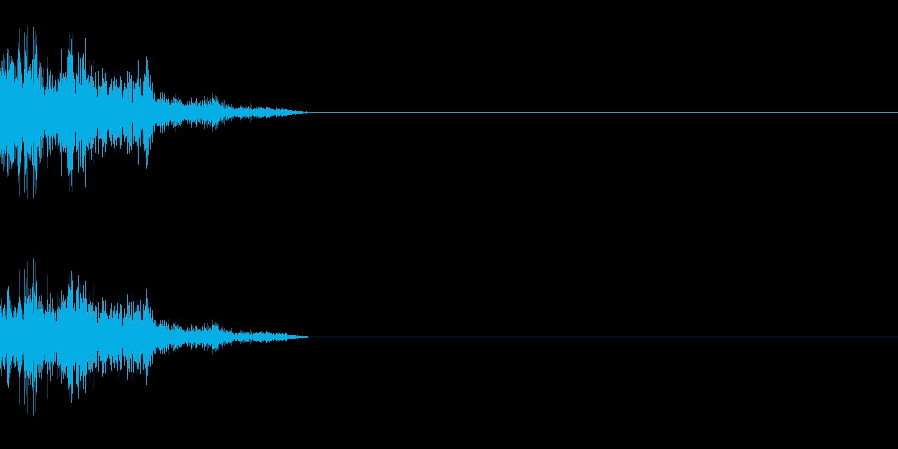 ダメージ音 3の再生済みの波形