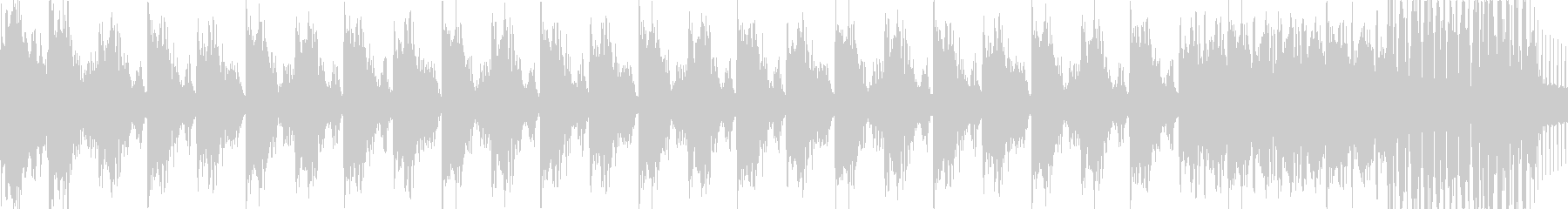 トランス・ハウス系BGM(ループ)の未再生の波形