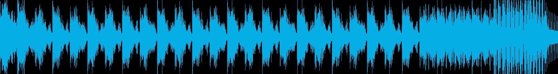 トランス・ハウス系BGM(ループ)の再生済みの波形