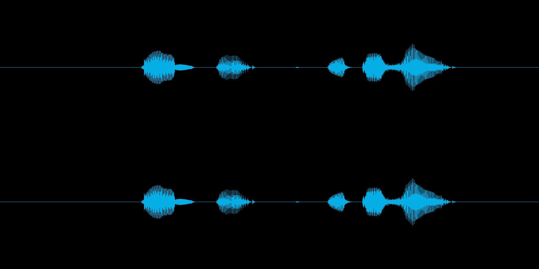 テンポ、60の再生済みの波形