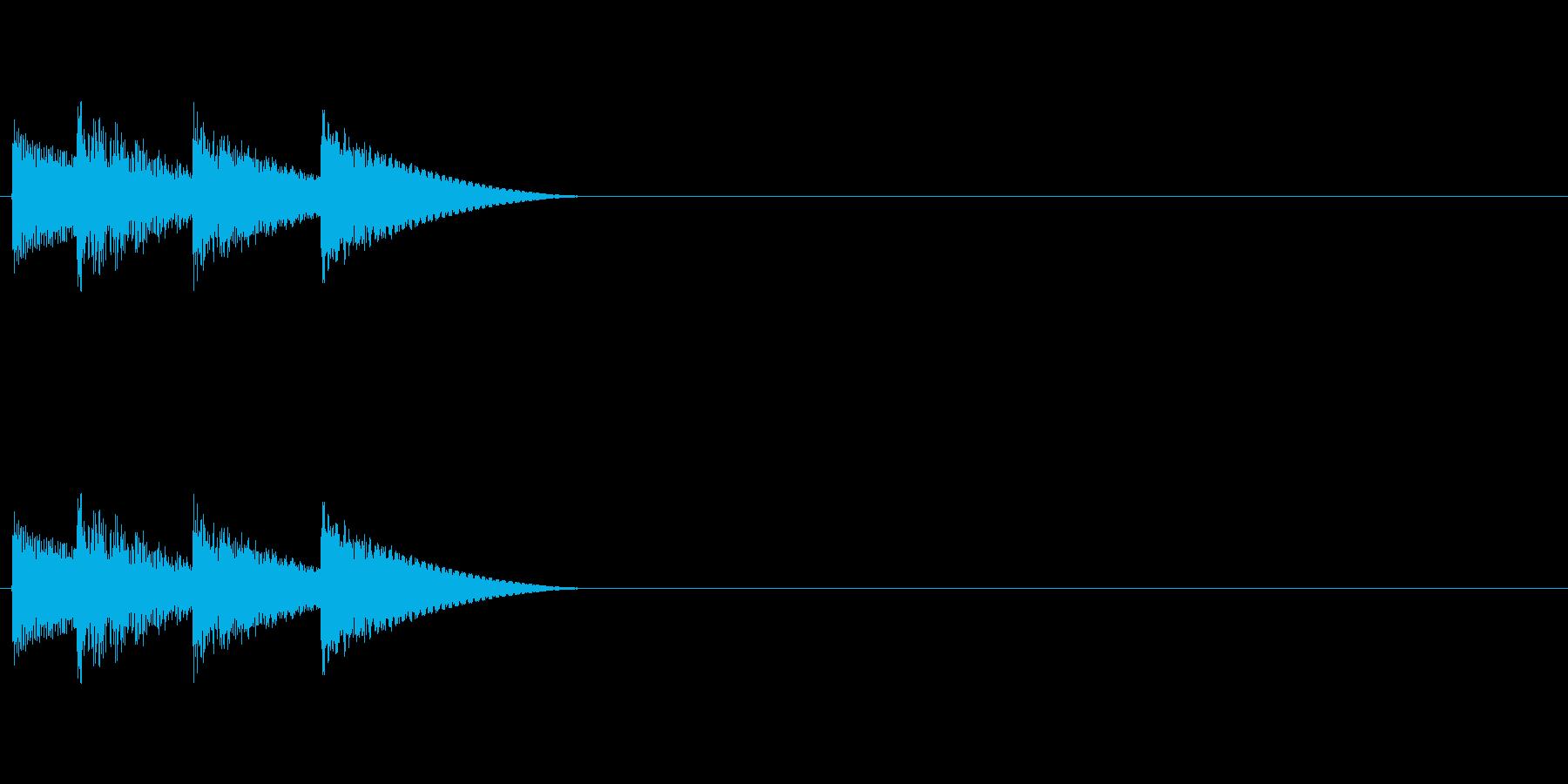 ゲームの決定音「テロリン」の再生済みの波形