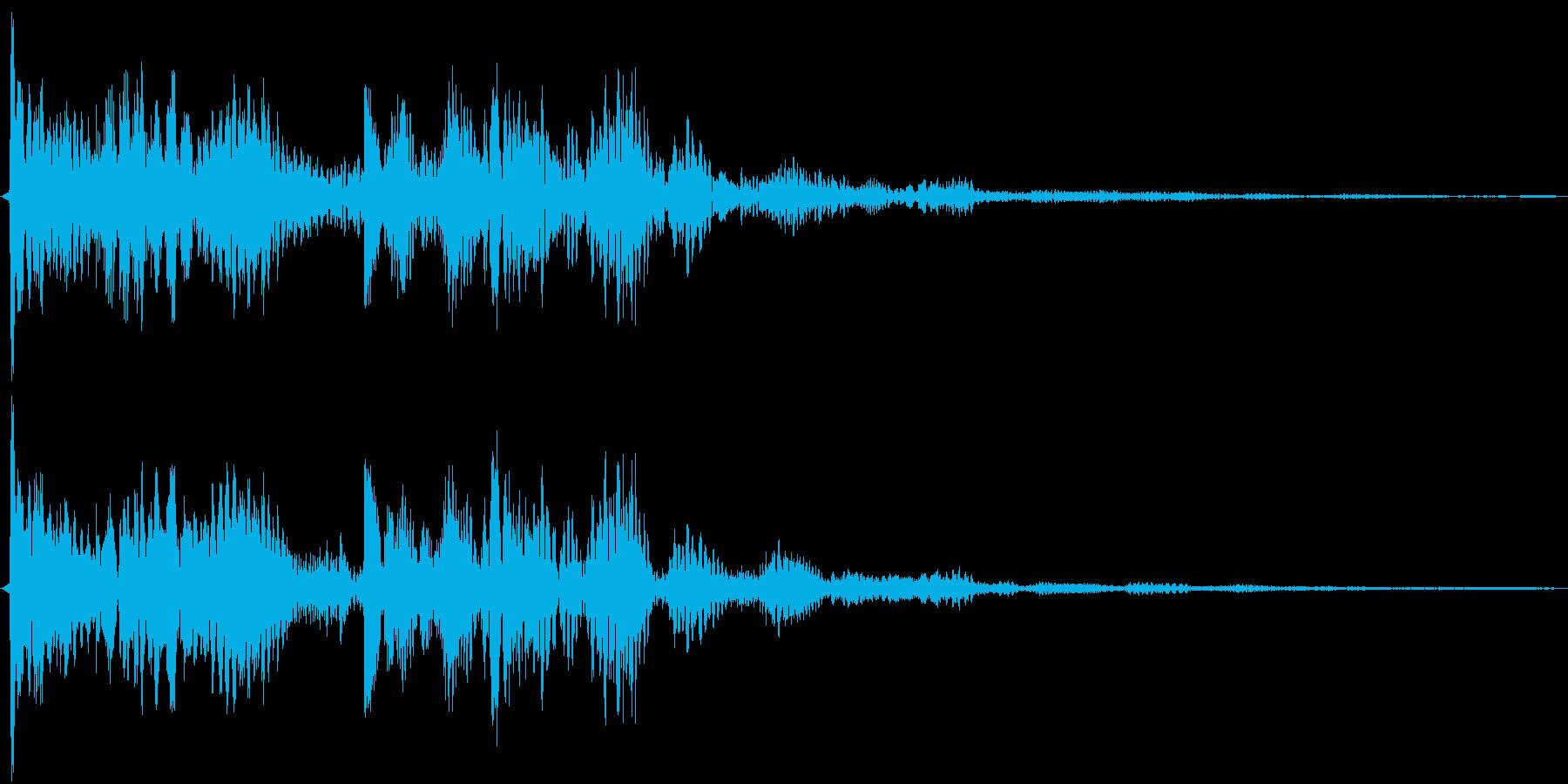 回復系(電子音)の再生済みの波形