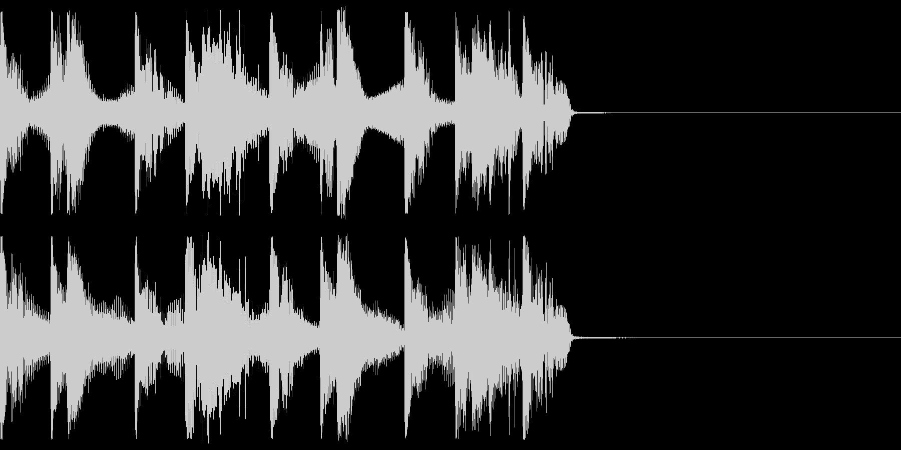 バーチャル空間のジングルの未再生の波形