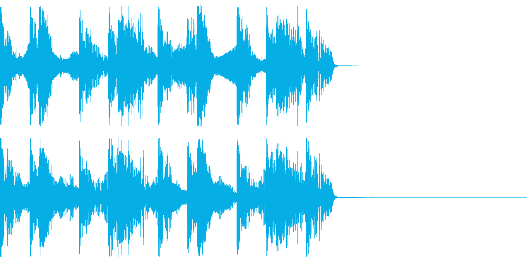 バーチャル空間のジングルの再生済みの波形