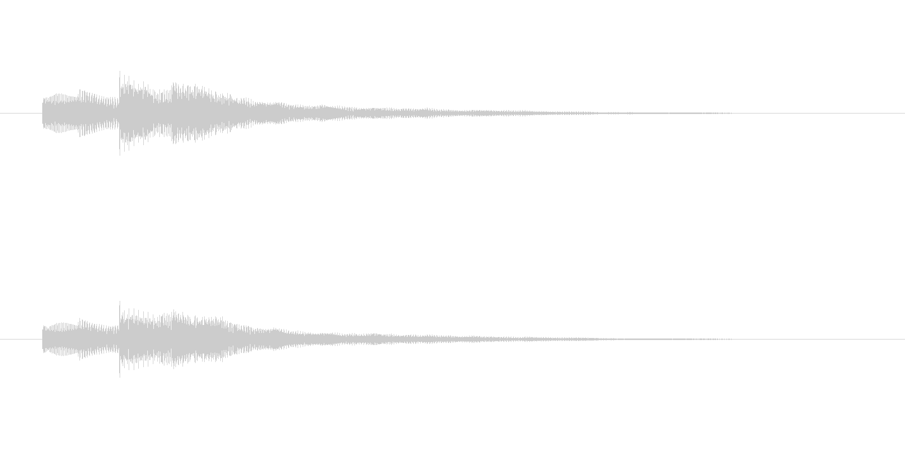 タタタタンターン(しみじみした感情)の未再生の波形
