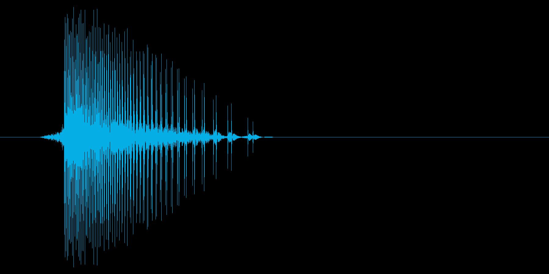 ゲーム(ファミコン風)ヒット音_009の再生済みの波形