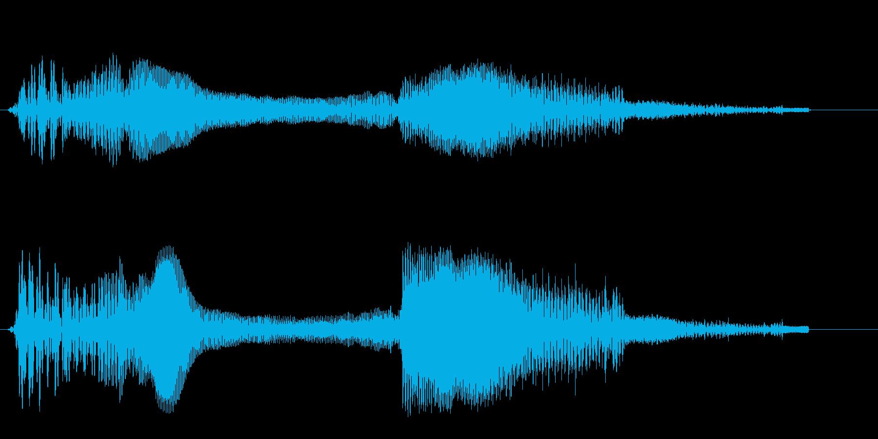 弾みのある、はじけたような音の再生済みの波形