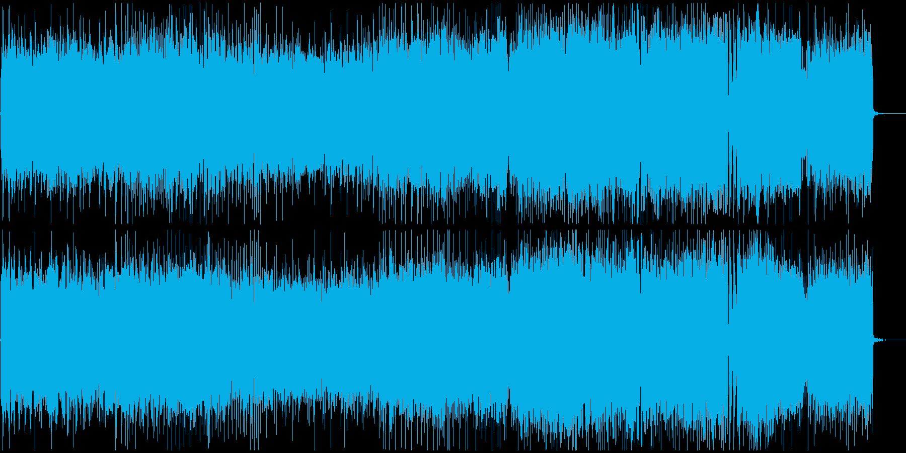 疾走感のある泥臭いギターロックインストの再生済みの波形