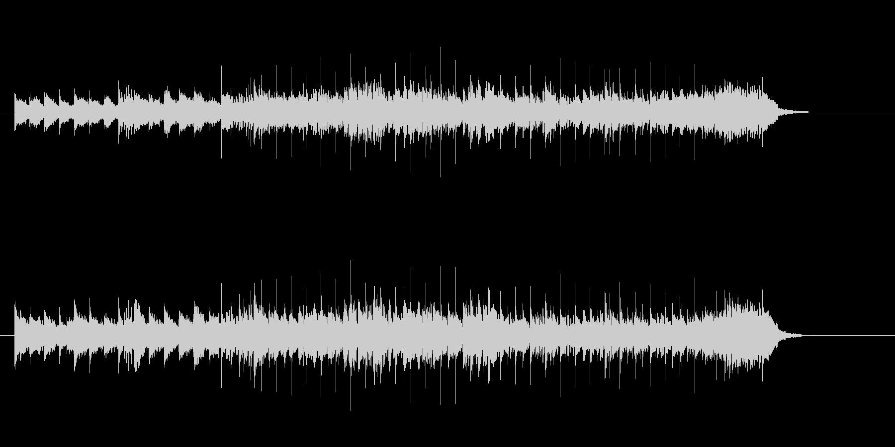 アップテンポなマイナー調シャッフルの未再生の波形