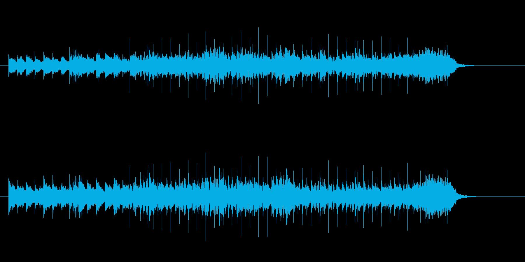 アップテンポなマイナー調シャッフルの再生済みの波形