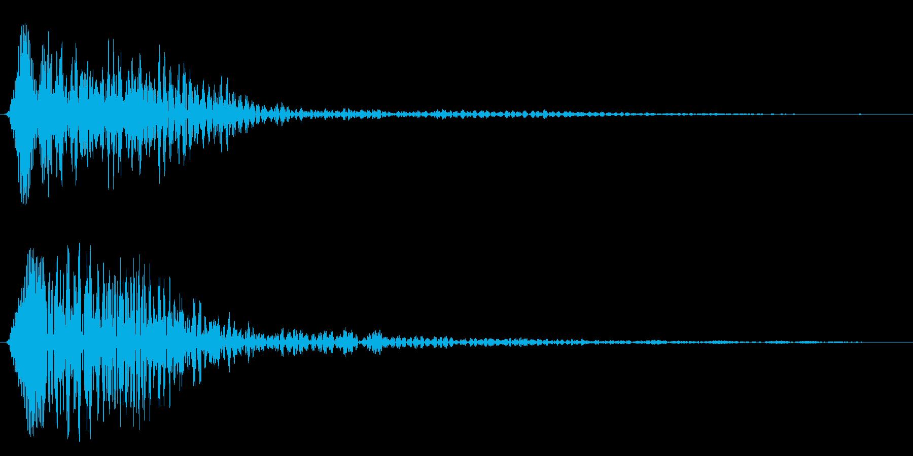 ローリングスタート(落ち着いた女性の声)の再生済みの波形