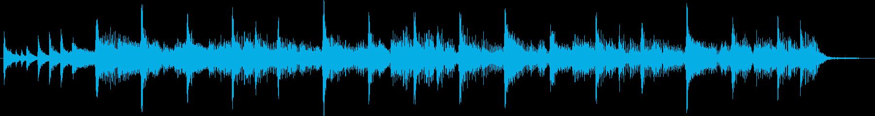 ファンキーで軽快なジングルの再生済みの波形