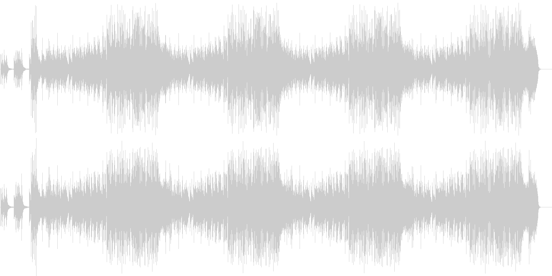 VTRやスライド、なれそめトークのBGMの未再生の波形