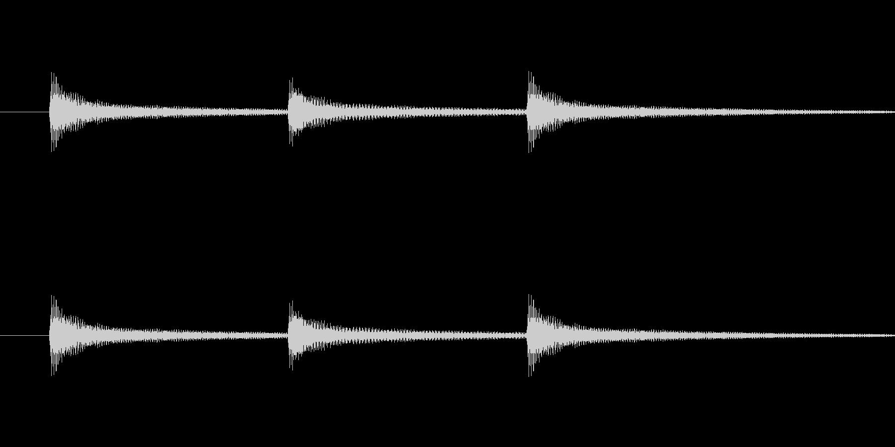 起立礼の時に演奏するピアノ音の未再生の波形