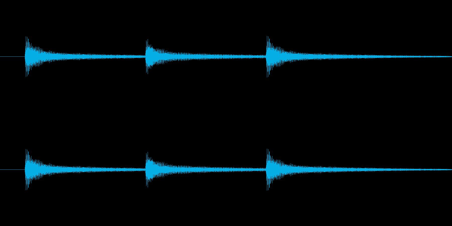 起立礼の時に演奏するピアノ音の再生済みの波形