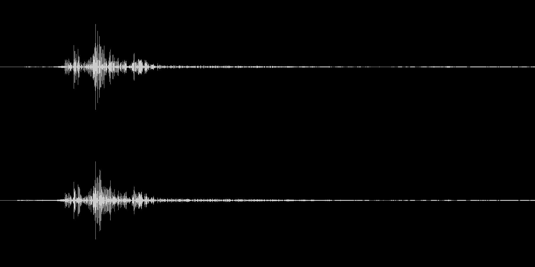 一般的なクリック音です。の未再生の波形