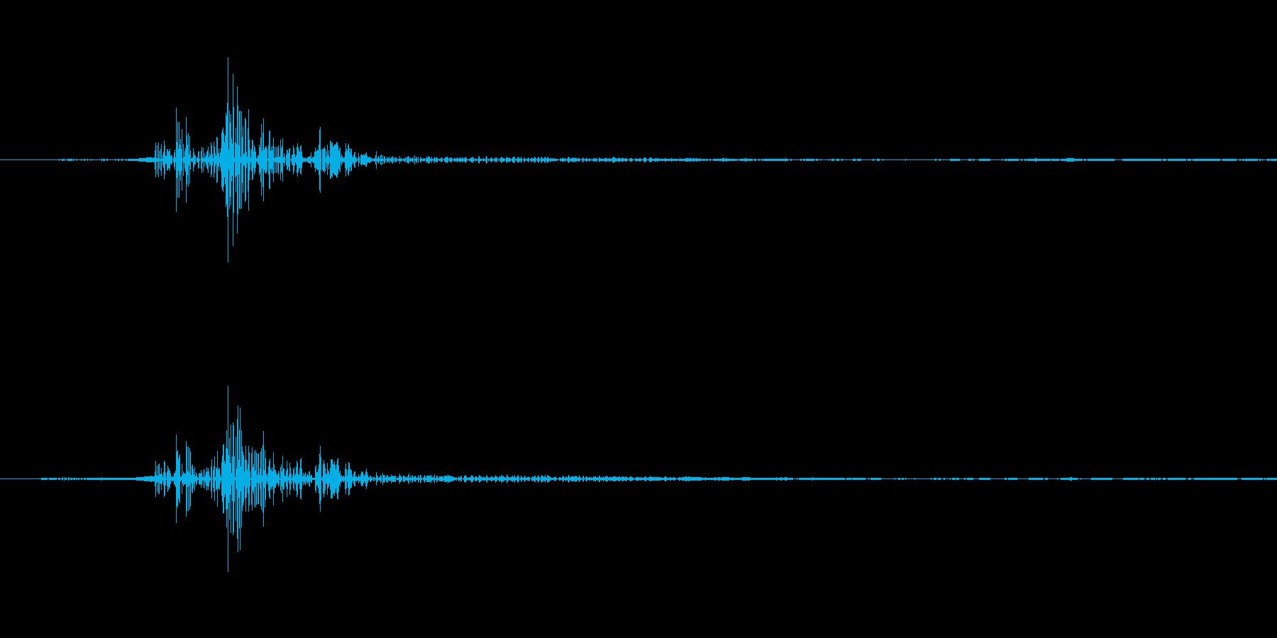 一般的なクリック音です。の再生済みの波形