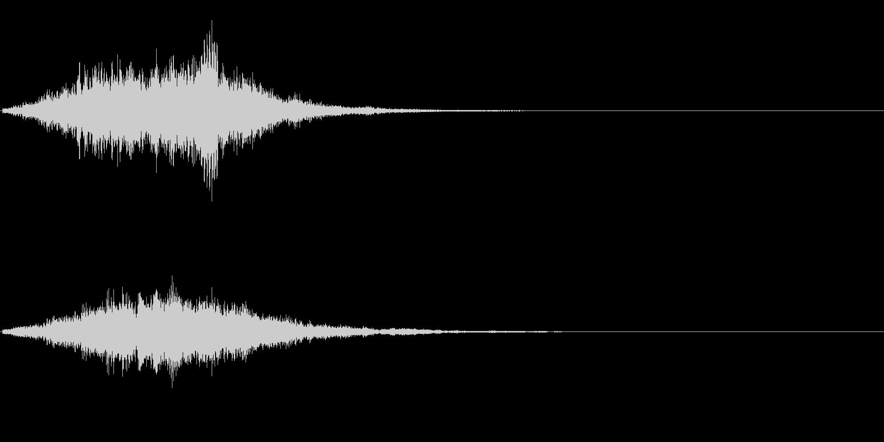 サウンドロゴ、ジングルに。デジタル系の未再生の波形
