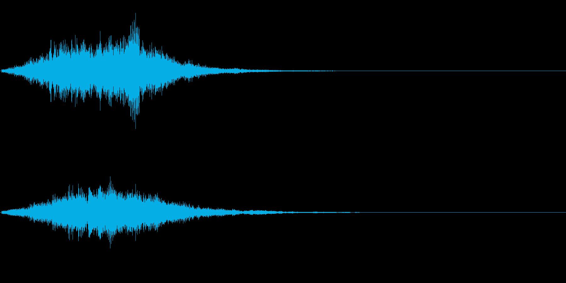 サウンドロゴ、ジングルに。デジタル系の再生済みの波形