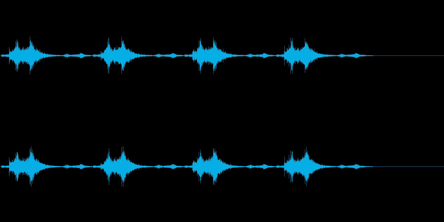 バサッ…バサッ…(羽ばたき音、飛行系)の再生済みの波形