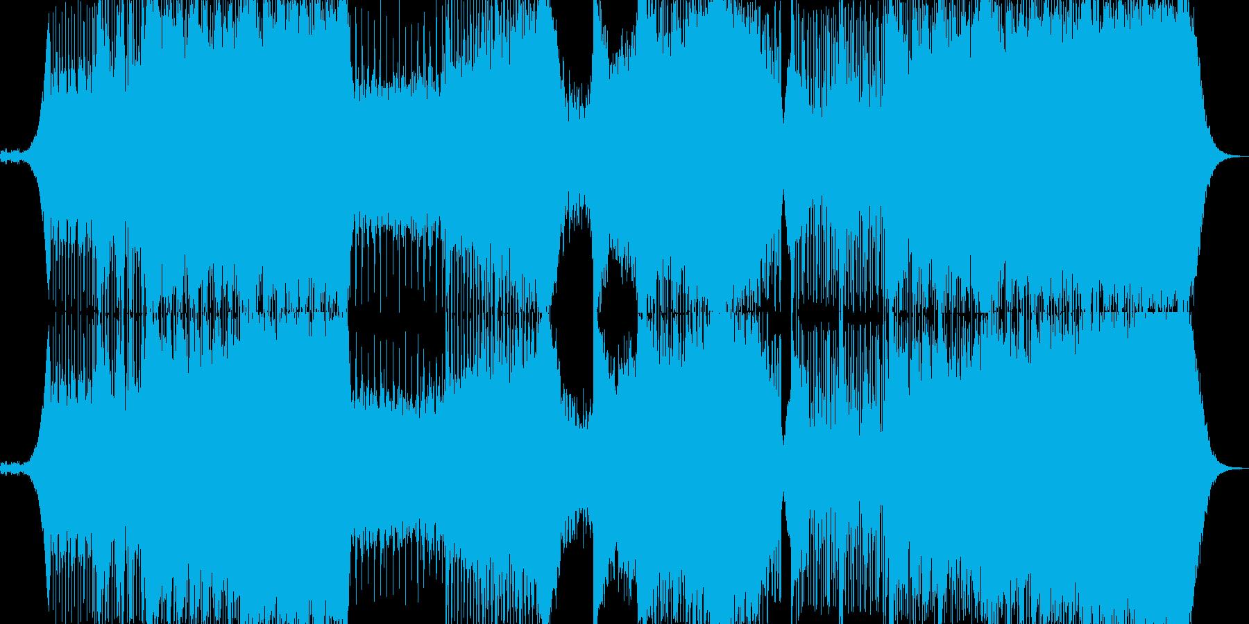 明るく楽しい雰囲気のテクノポップの再生済みの波形