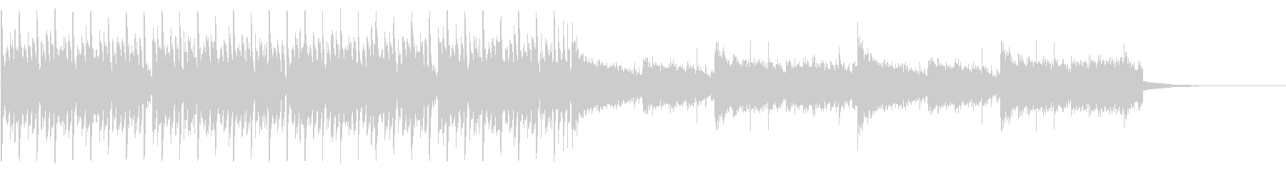 CM等で使われる事を想定した短い曲の未再生の波形