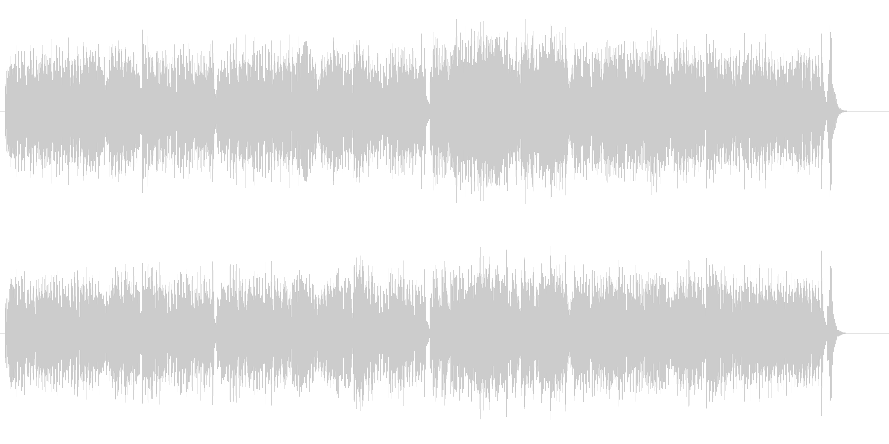 クラシカル・ポップ調のキャッチーなBGMの未再生の波形