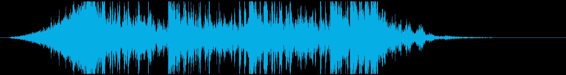 壮大で激しいリズムのサウンドロゴB(長)の再生済みの波形