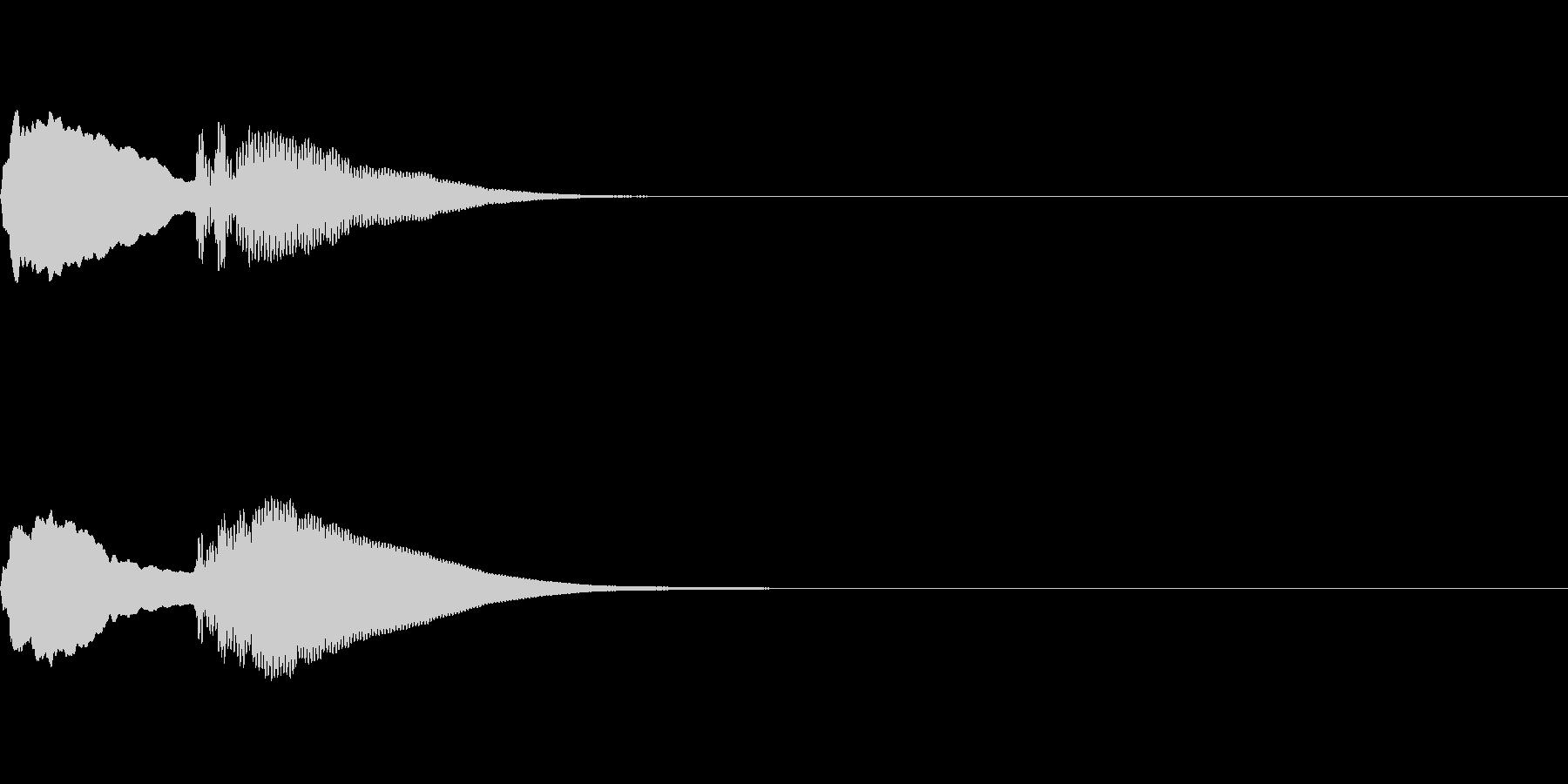 到着ピンポン(エレベーター電子音2回)の未再生の波形