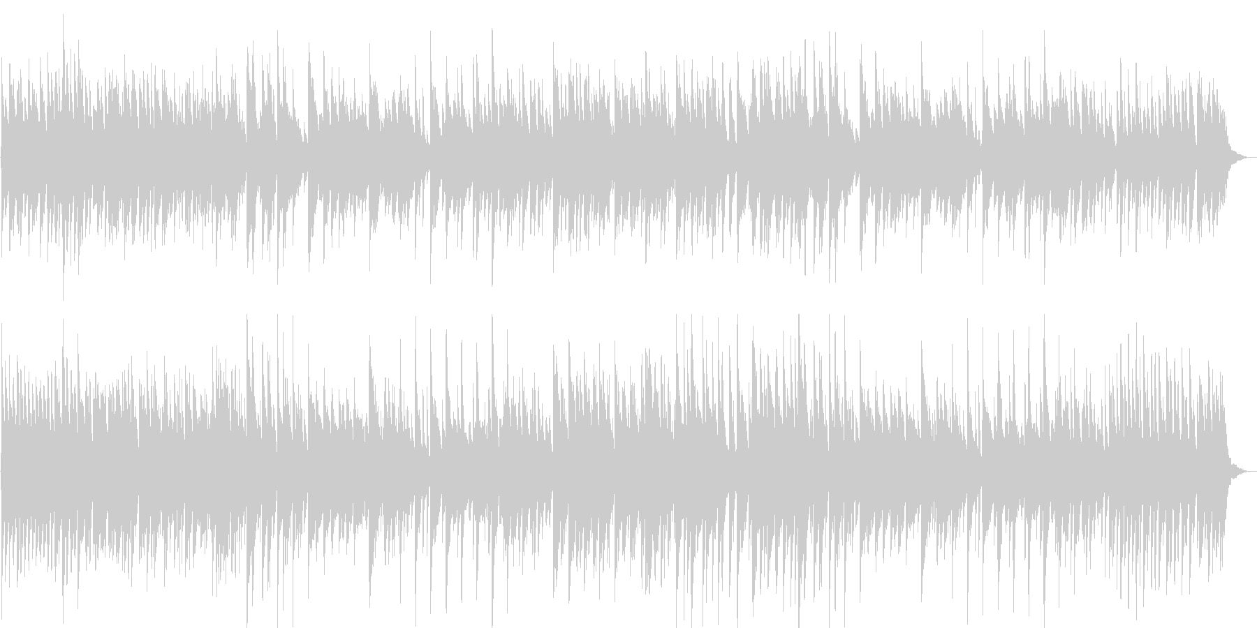 神秘的・幻想的なピアノ曲の未再生の波形