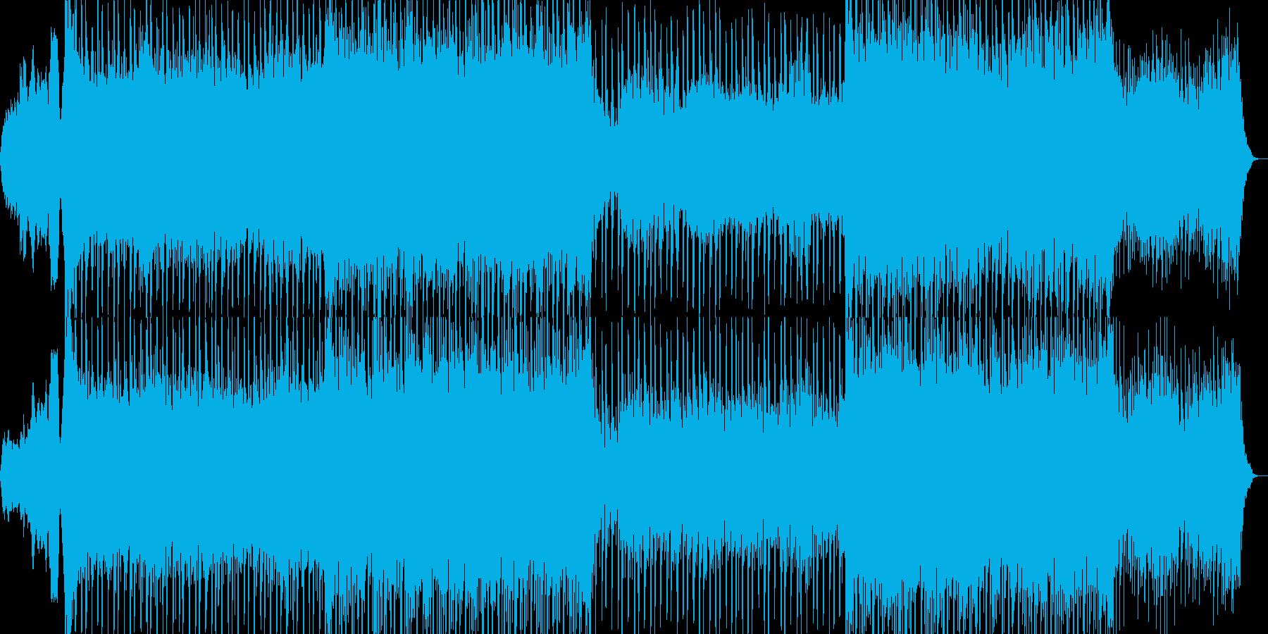 カッコイイ現代的なシンセミュージック01の再生済みの波形