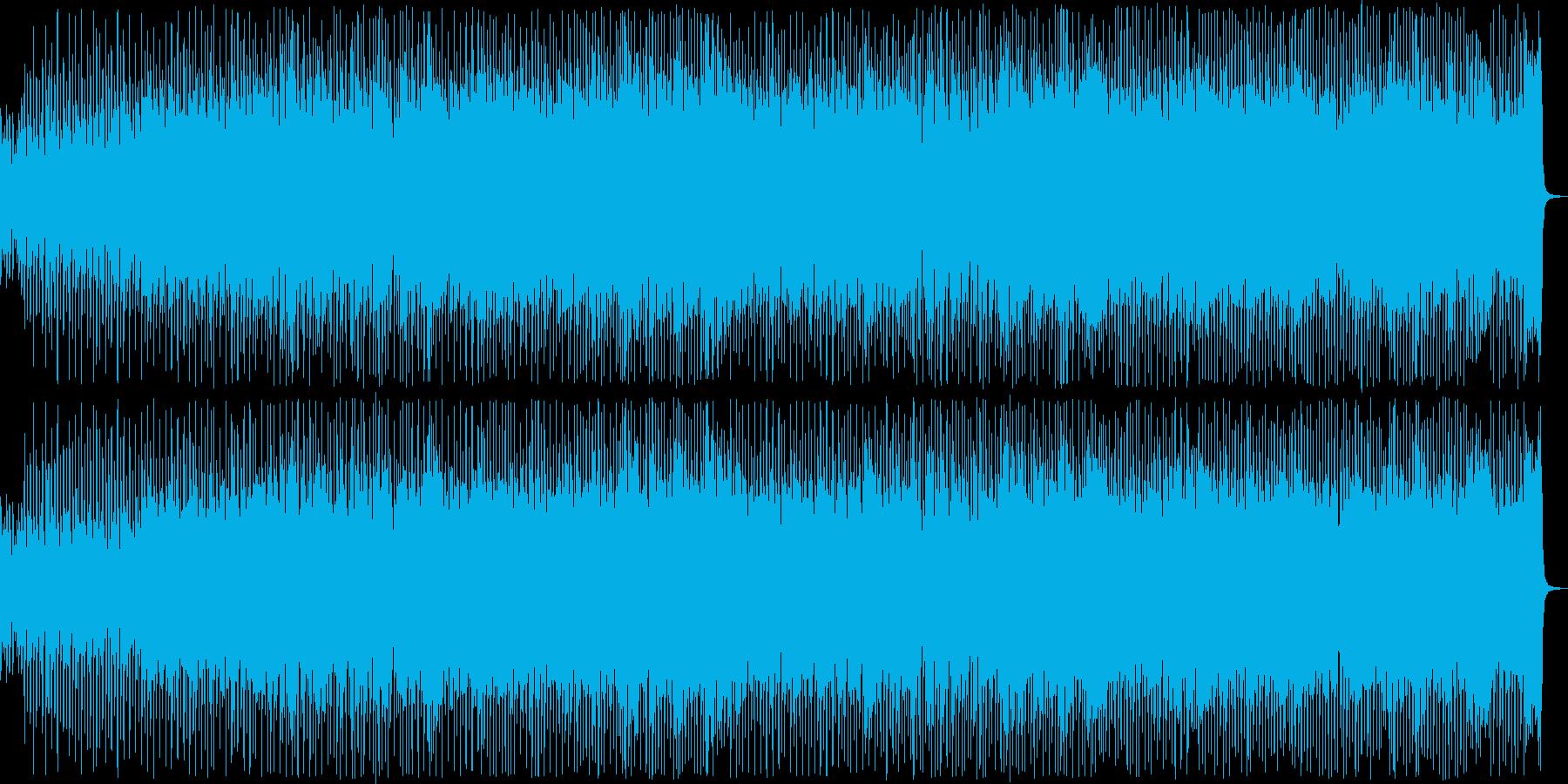 80年代風のエレクトロポップの再生済みの波形